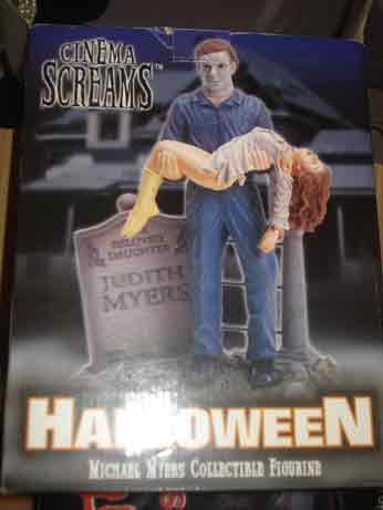 HALLOWEEN CINEMA SCREAMS MICHAEL MYERS DIORAMA box