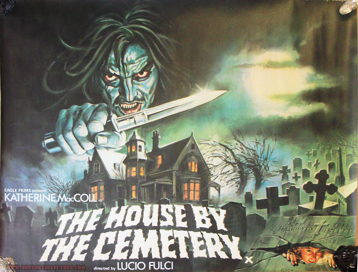 House By The Cemetery British Quad Poster