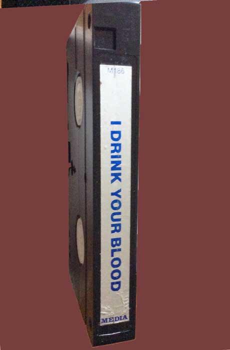 I DRINK YOUR BLOOD Pre-cert Media VHS tape