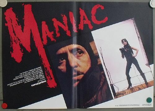 Maniac Italian Fotobusta posters