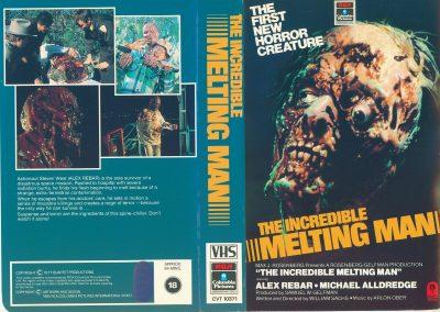 Incredible Melting Man Pre Cert Interest VHS Video