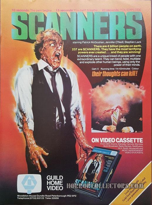 Scanners Guild Home Video Pre-Cert Video 1980's Magazine Advert