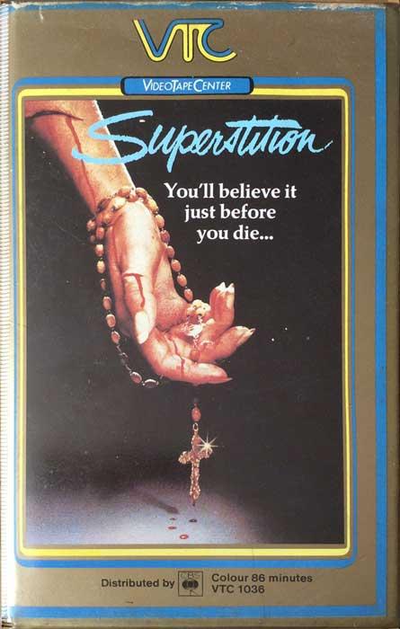 Superstition UK VTC Pre Cert VHS Video