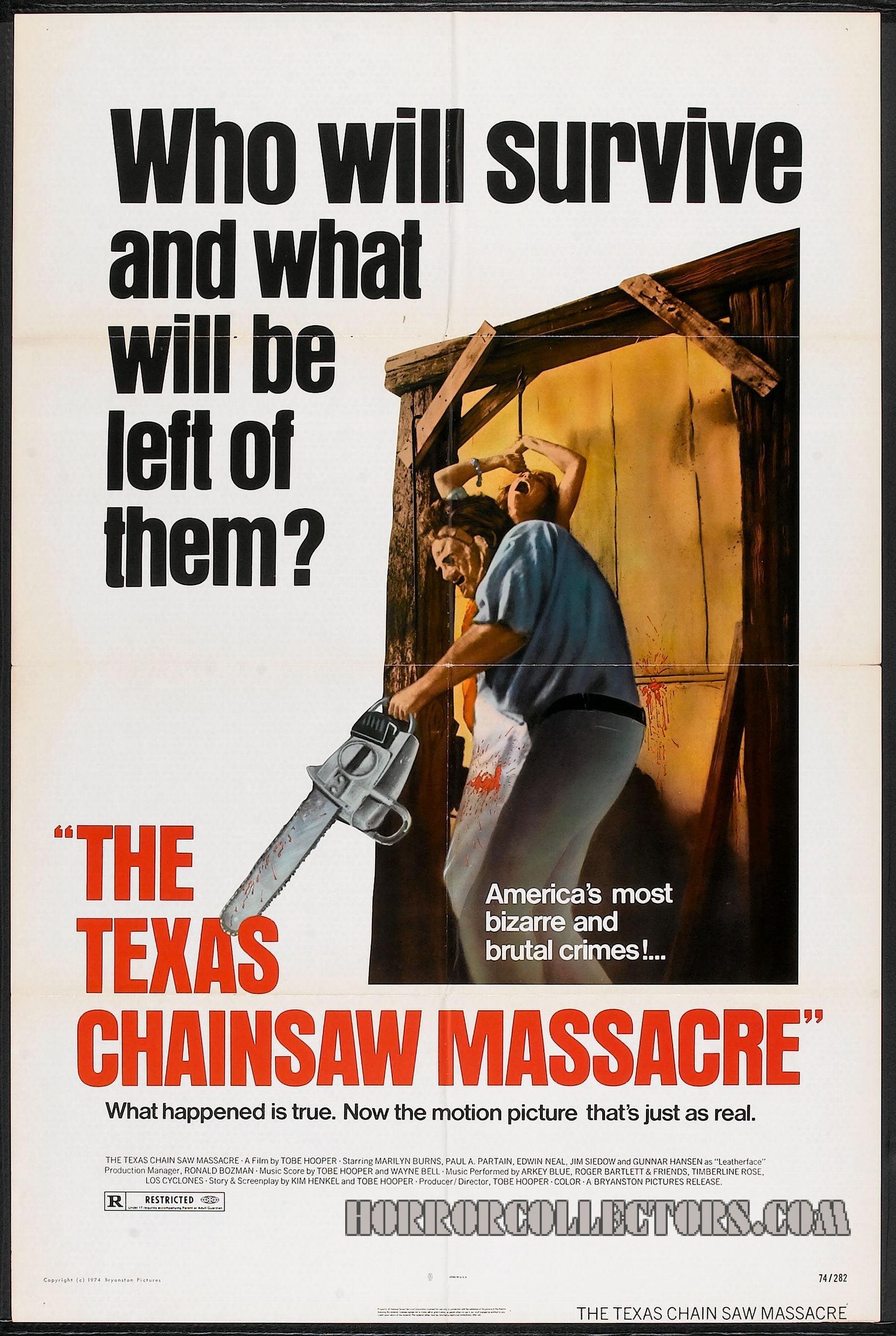 The Texas Chainsaw Massacre US Bryanston One sheet Poster