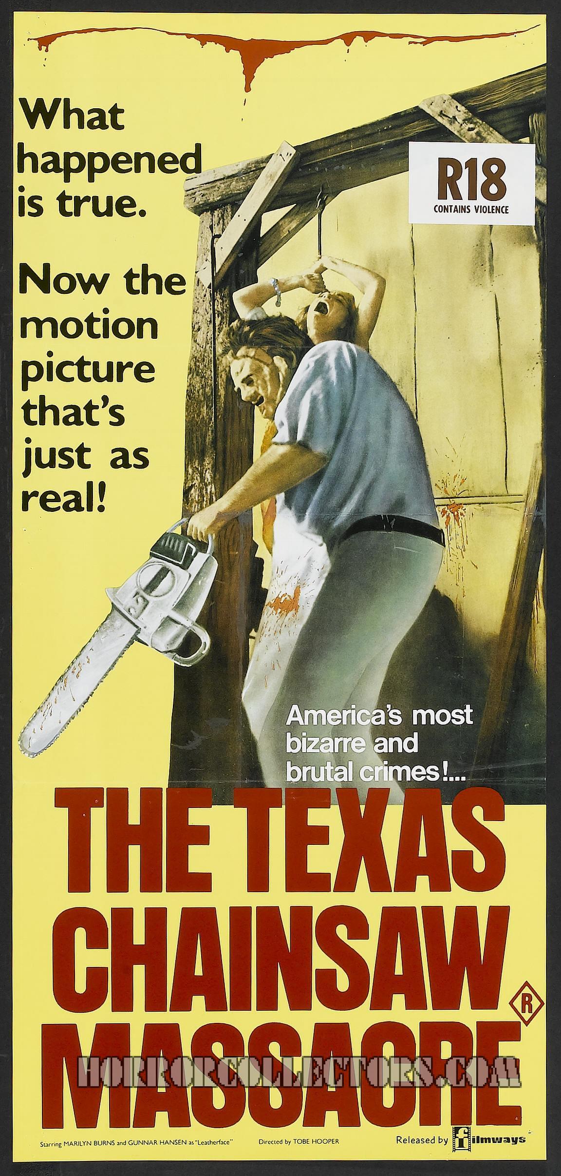 Texas Chainsaw massacre Australian Daybill Poster