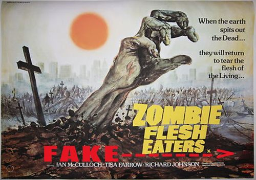 Zombie Flesh Eaters reproduction / fake British Quad Poster