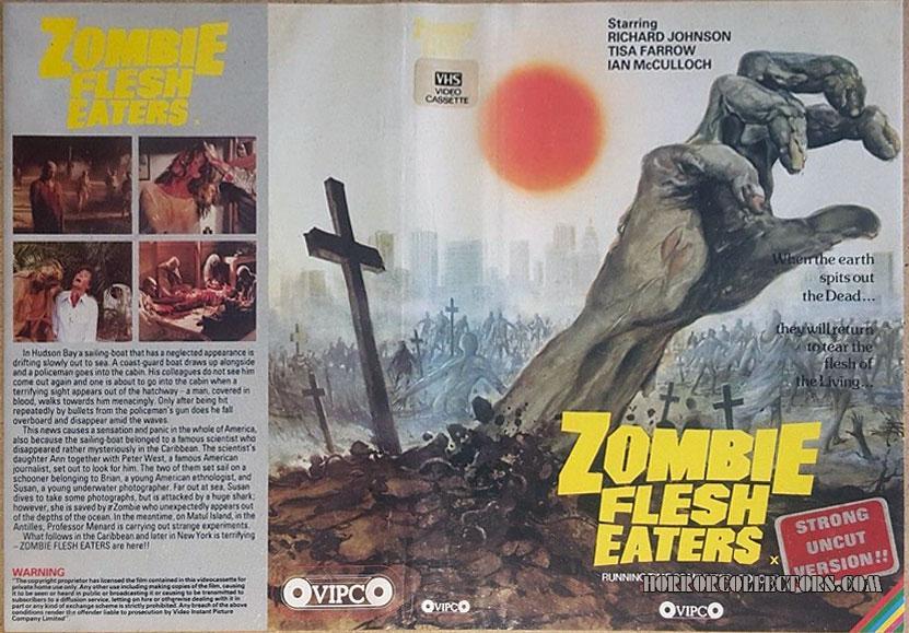ZOMBIE FLESH EATERS UK VIPCO PRE CERT VHS VIDEO